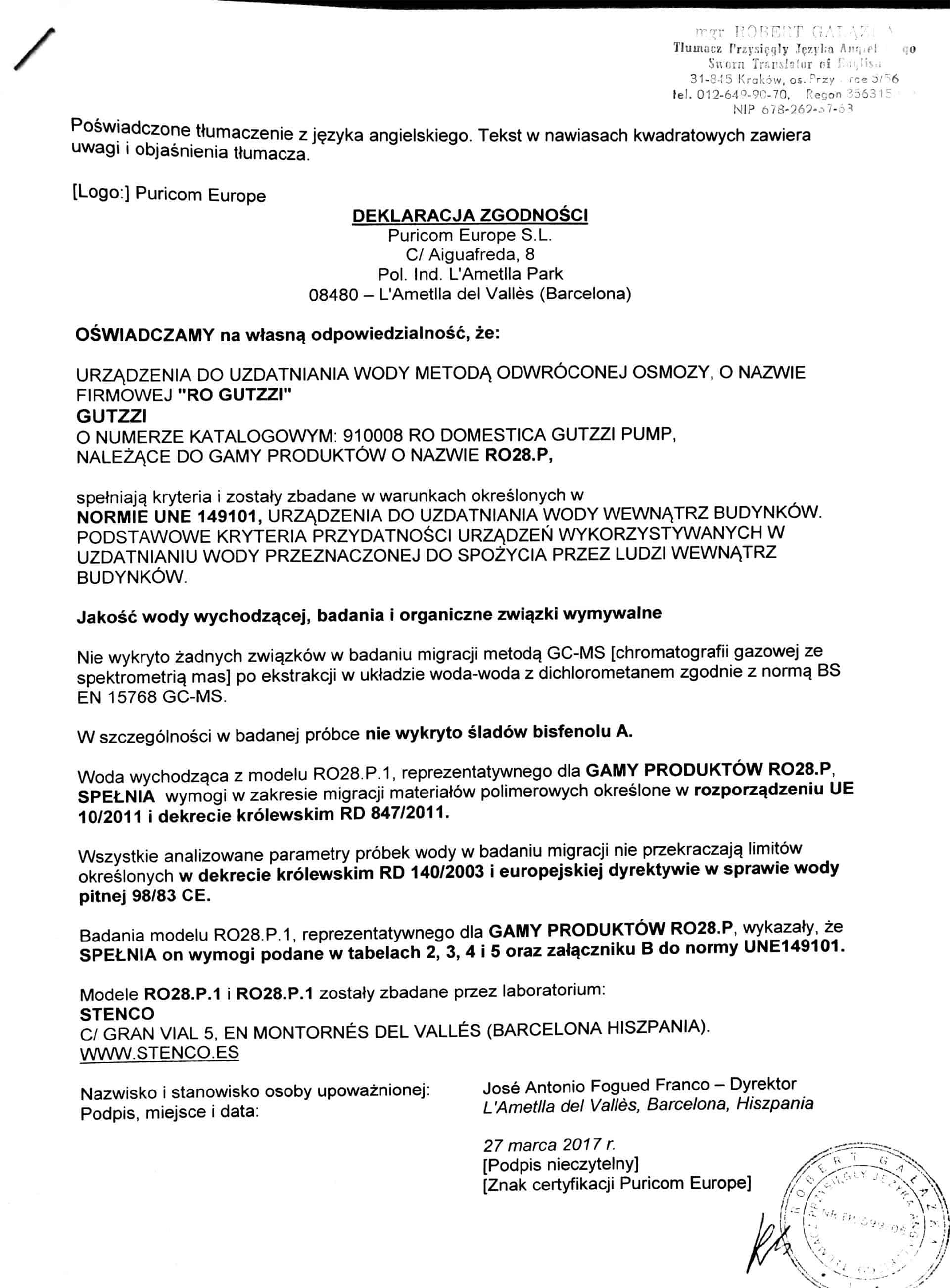 Certyfikat gutzzi 3